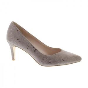 Capollini Izzy Dark Beige Court Shoe