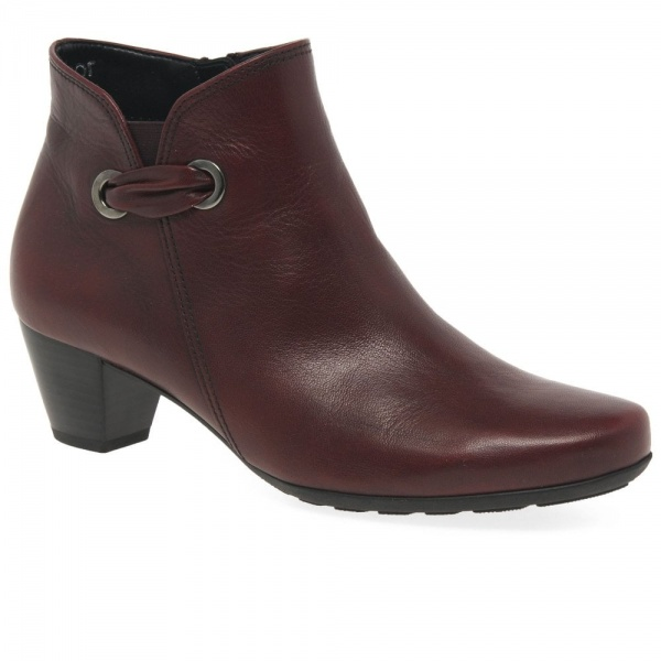 Gabor Keegan Womens Ankle Boots Leather Brown