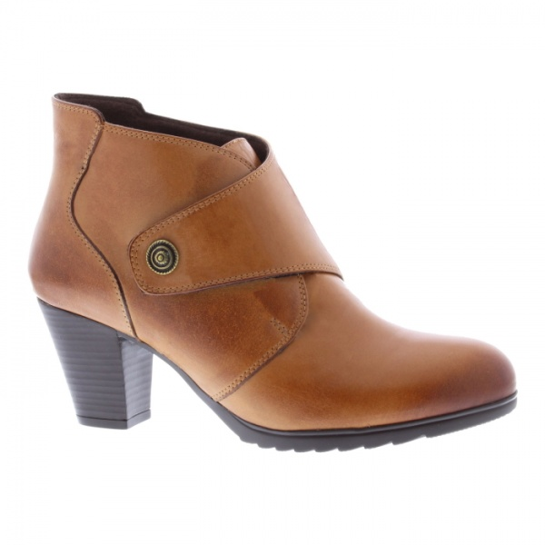 Adesso Louise Tan Ankle Boot Leather Heeled Relaxed Fit
