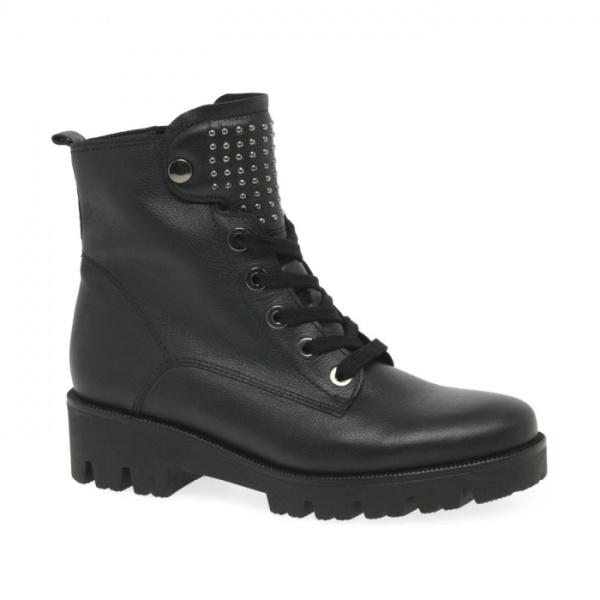 Gabor Nirvana Womens Biker Boots Leather Wide fit