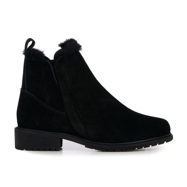 Emu Australia Pioneer Black Ankle Boot Waterproof Suede