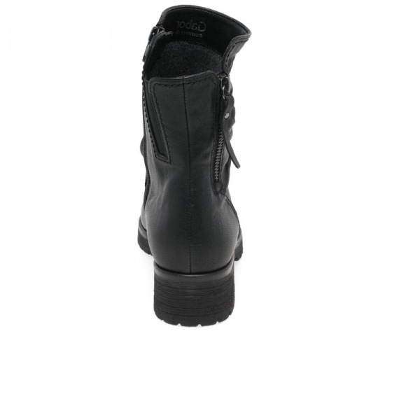 Gabor Zola Womens Biker Boots Leather Wider Fit