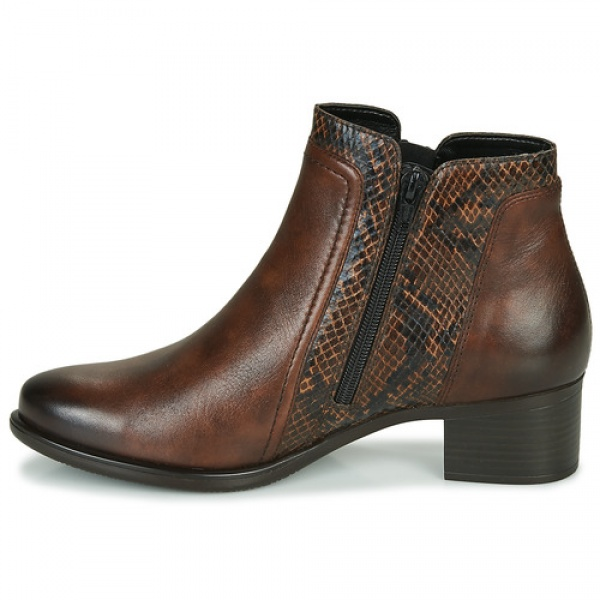 Remonte R5172-25 Women's Low Ankle Boots In Brown Leather
