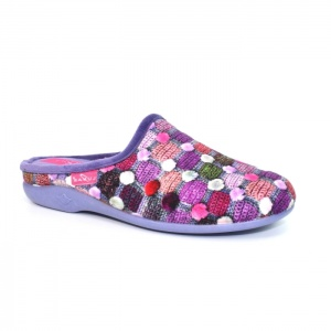 Lunar Crackle Slip On Slipper