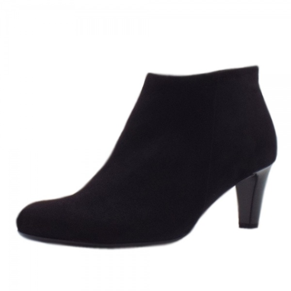 Gabor Fatale Stylish Ankle Boots in Black