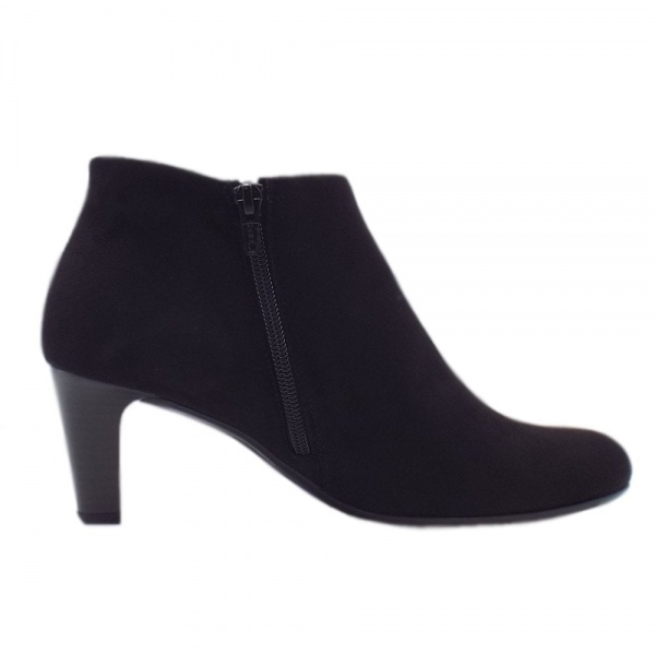 Gabor Fatale Stylish Ankle Boots In Black heels