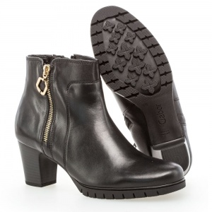 Gabor Hero Modern Wide Fit Ankle Boots in Black
