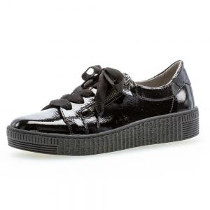 Gabor Wisdom Casual Shoe in Black Lack