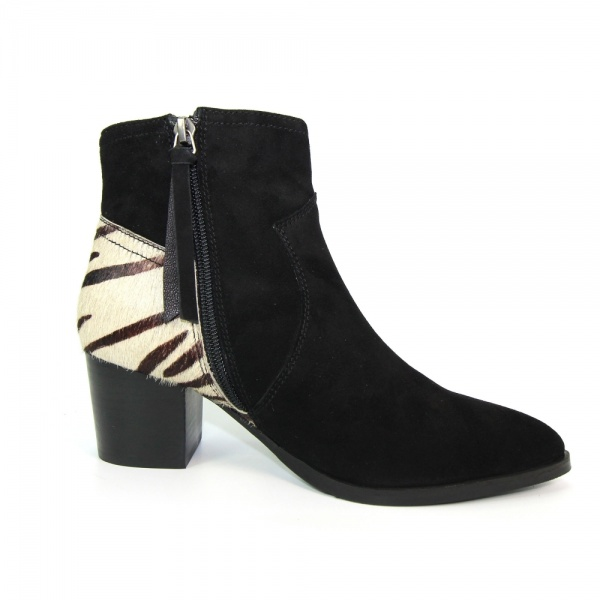 Lunar Posy Leather Ankle Boot Tiger Print