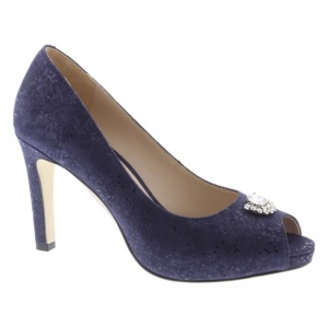 Capollini Sandy Navy Peep Toe Shoe