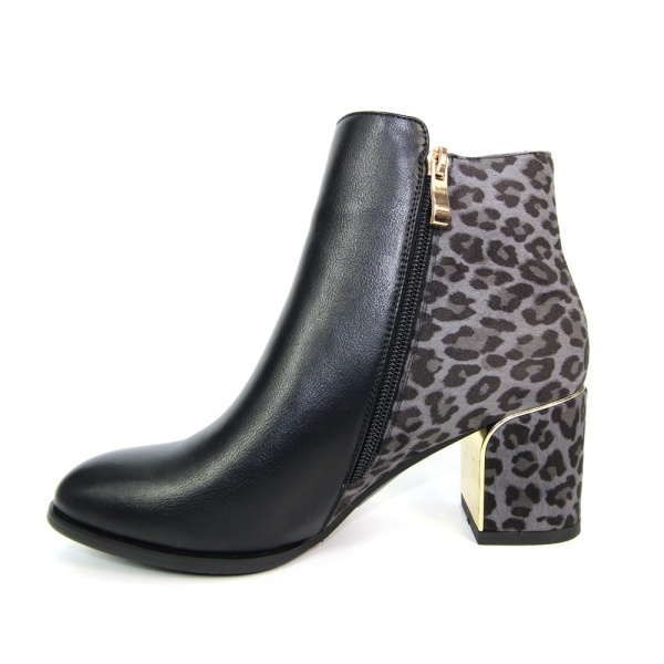 Lunar Solar Animal Print Ankle Boot Leather Suede