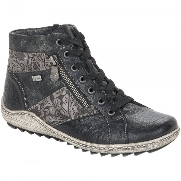 Remonte Ottawa Grey Combi Water Resistant Ankle Boot Leather Sneaker