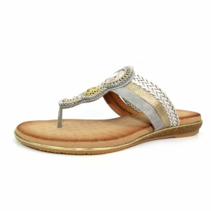 Carlotta Grey Toe Post Sandal