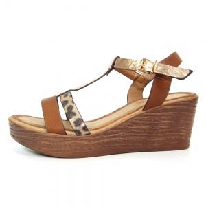 Kempton Brown Wedge Sandal