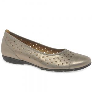 Gabor Ruffle Mutaro Womens Punched Detail Casual Shoes