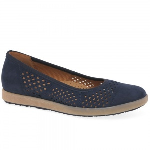 Gabor Pattie Womens Punched Detail Casual Shoes