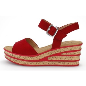 GABOR Twirl Red Wedge Womens Sandals